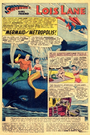 Transmutation (animal)-Lois Lane turned into mermaid-Lois Lane V1 #12