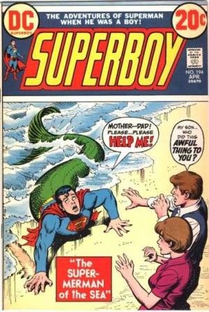 Transmutation (animal)-Superboy turned into Mermaid-Superboy V1 #194