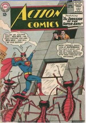 Transmutation (animal)-Superman turned into Ant hybrid-Action Comics V1 #296