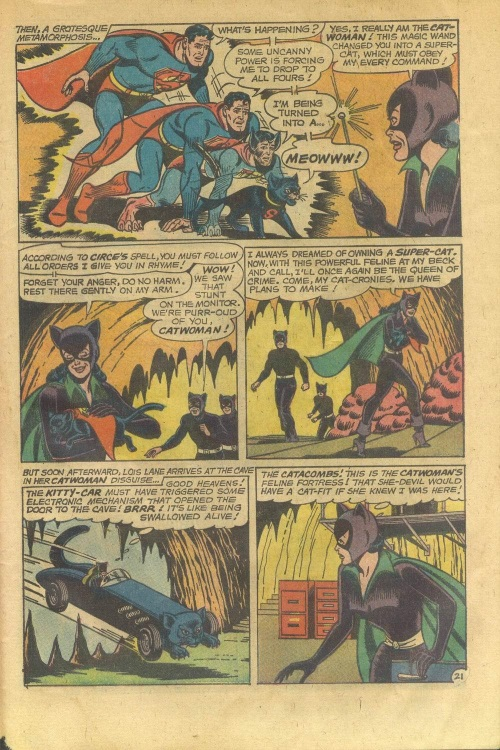 Transmutation (animal)-Superman turned into Cat- Lois Lane V1 #70-30