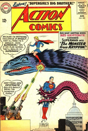 Transmutation (animal)-Superman turned into Kryptonian monsters-Action Comics V1 #303