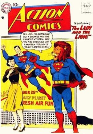 Transmutation (animal)-Superman turned into Lion-Action Comics V1 #243