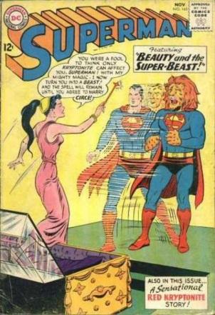 Transmutation (animal)-Superman turned into lion-Superman V1 #165