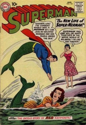 Transmutation (animal)-Superman turned into Mermaid-Superman V1 #139