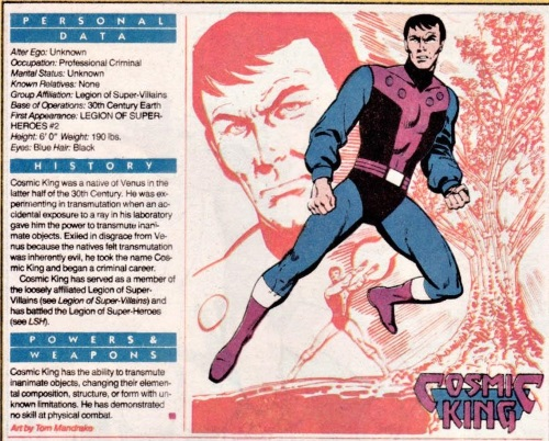 Transmutation (elemental)-Cosmic King-DC Who's Who V1 #5