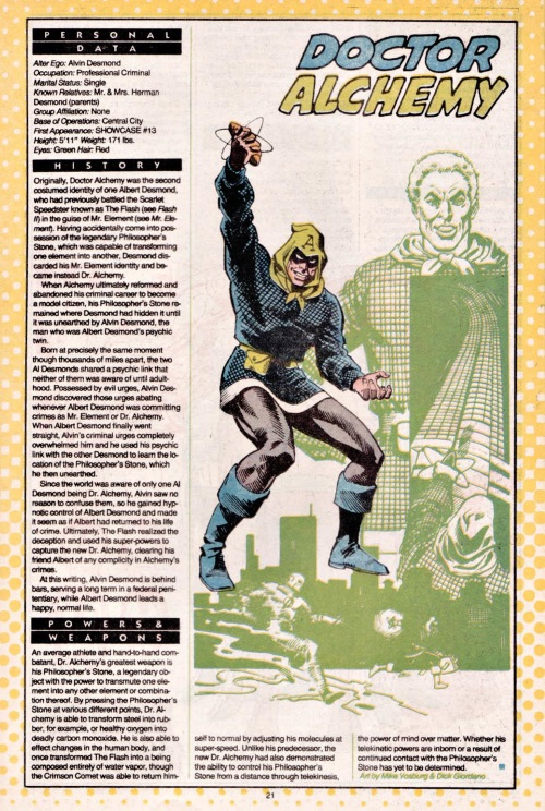Transmutation (elemental)-Doctor Alchemy-DC Who's Who V1 #6