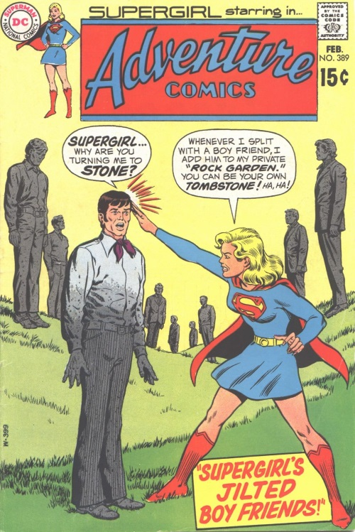 Transmutation (petrification)-Supergirl-Adventure Comics V1 #389
