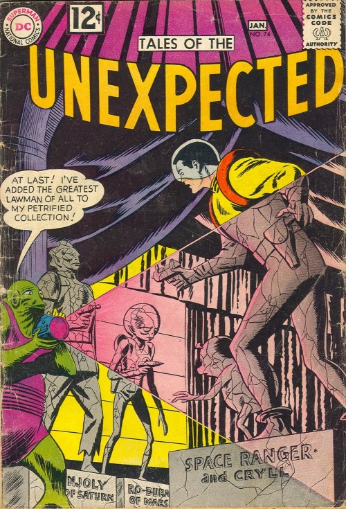 Transmutation (petrification)–Space Ranger-Tales of the Unexpected #74