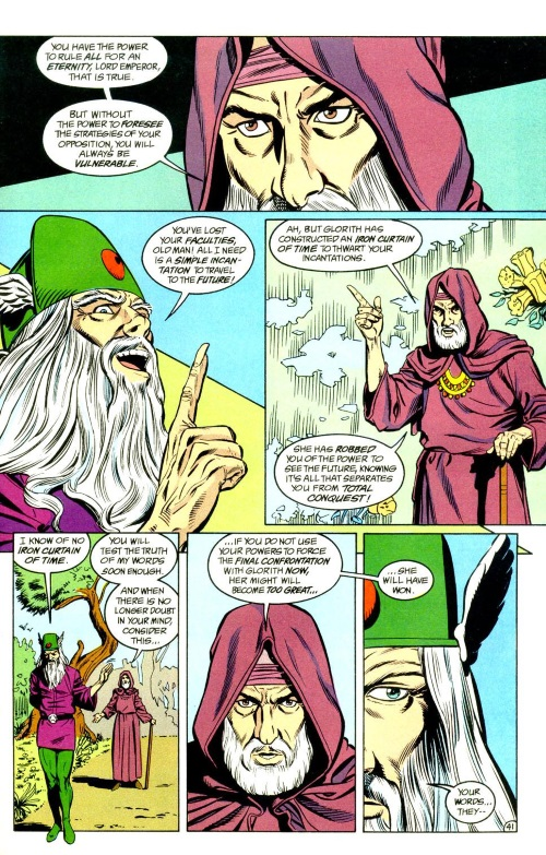 Vision (time)-Mordru vs Glorith-Legion of Super-Heroes Annual V4 #1-42