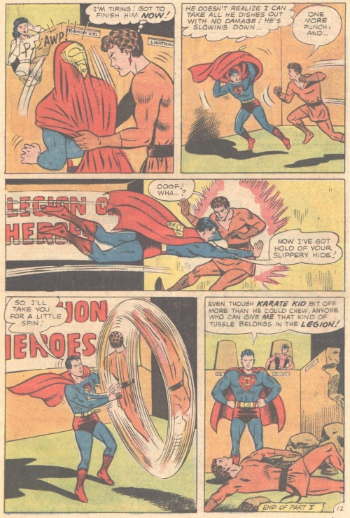 Weakness Detection-Karate Kid vs Superboy-Adventure Comics V1 #346-17