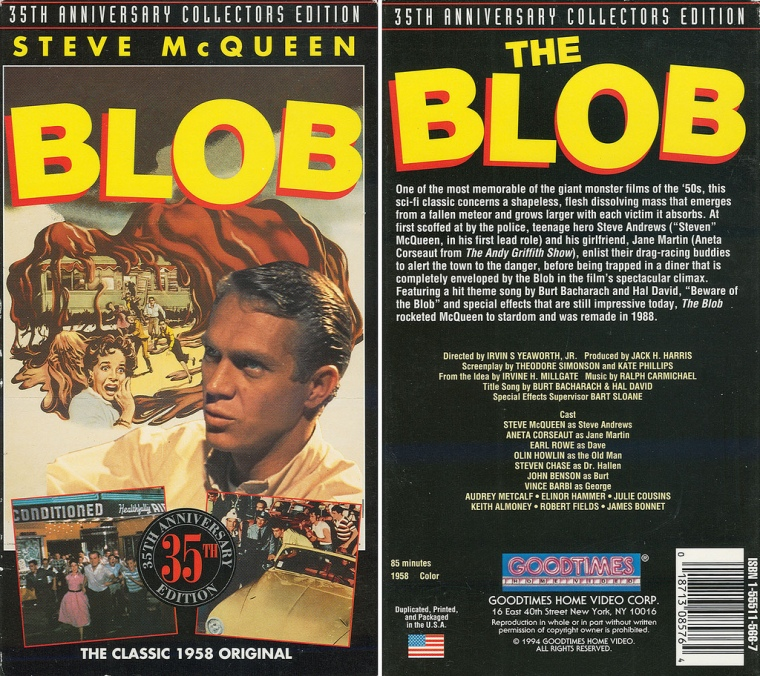 Amorphous Mimicry-Blob 1958-The Blob DVD Cover