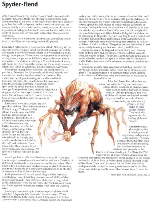 arachnid-mimicry-spyder-fiend-tsr-2173-monstrous-compendium-annual-volume-4