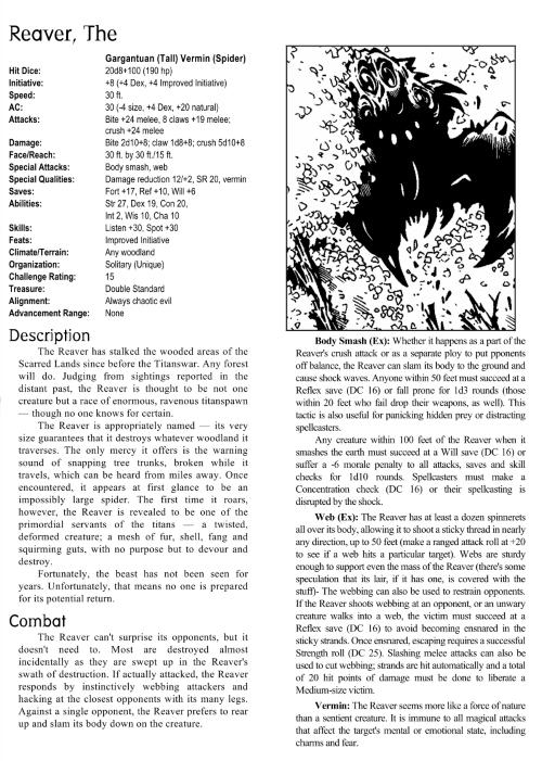 arachnid-mimicry-the-reaver-creature-collection-i