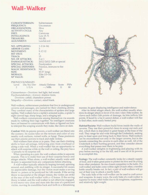 arachnid-mimicry-wall-walker-tsr-2158-monstrous-compendium-annual-volume-2