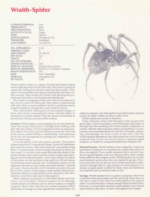 arachnid-mimicry-wraith-spider-tsr-2158-monstrous-compendium-annual-volume-2