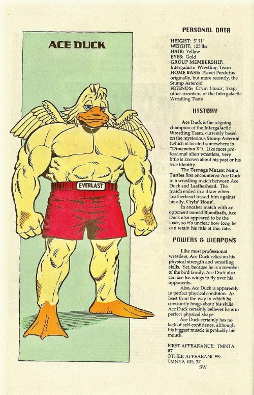 Avian Mimicry-Ace Duck-TMNT Mutant Universe Sourcebook #1