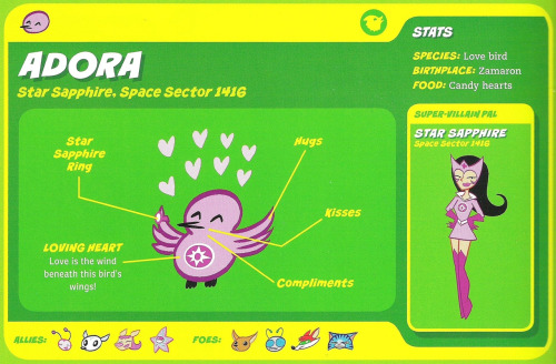 Avian Mimicry-Adora-Star Sapphire-Capstone's DC Super-Pets Character Encyclopedia