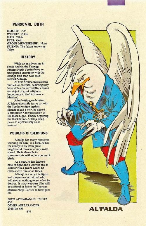 Avian Mimicry-Al'Falqa-TMNT Mutant Universe Sourcebook #1