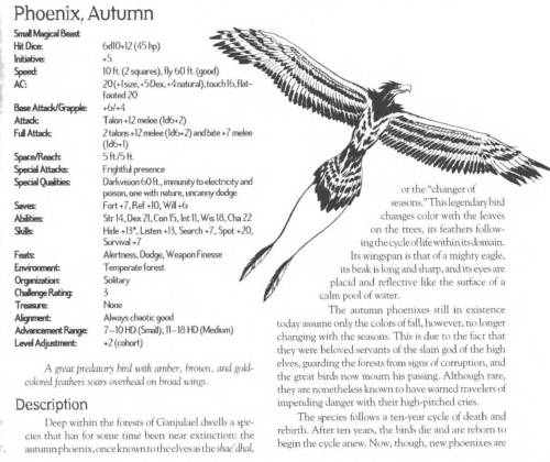 avian-mimicry-autumn-phoenix-creature-collection-iii-savage-bestiary