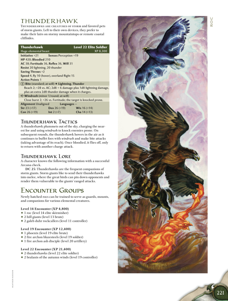Avian Mimicry-D&D-Thunderhawk-D&D 4th Edition - Monster Manual 1