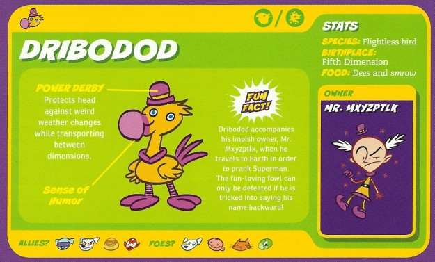 Avian Mimicry-Dribodod-Capstone's DC Super-Pets Character Encyclopedia