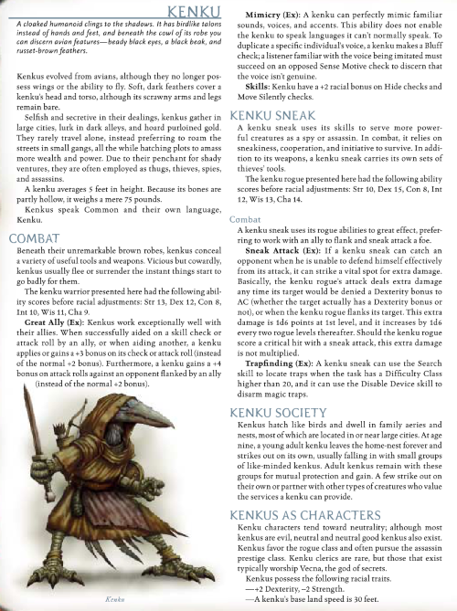 avian-mimicry-kenku-dd-3-5-monster-manual-iii