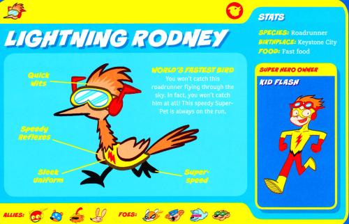 Avian Mimicry-Lightning Rodney-Capstone's DC Super-Pets Character Encyclopedia