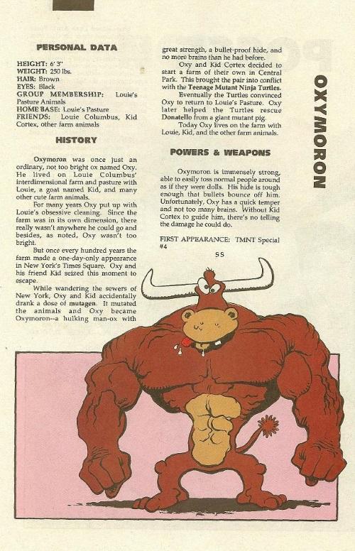 Bovine Mimicry-Oxymoron-TMNT Mutant Universe Sourcebook #3