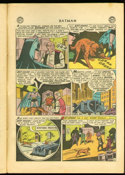 Canidae Mimicry-Ace the Bat-Hound-Batman #92 (1955)