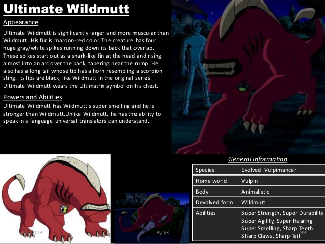 Canidae Mimicry-Ben 10-Ultimate Wildmutt