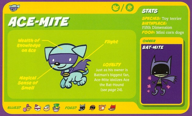 Canidae Mimicry-Cap-Ace Mite-Bat-Mite-Capstone's DC Super-Pets Character Encyclopedia