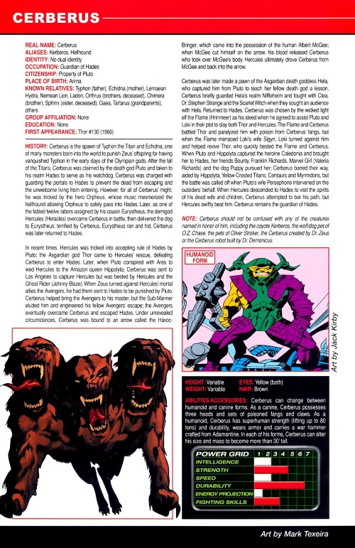 Canidae Mimicry-Cerberus-Marvel Pets Handbook #01
