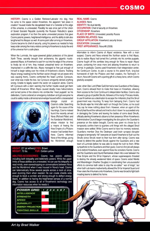 Canidae Mimicry-Cosmo-Marvel Pets Handbook #01