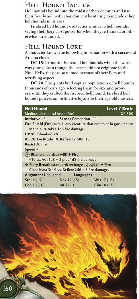 Canidae Mimicry-D&D-Hell Hounds-D&D 4th Edition - Monster Manual 1