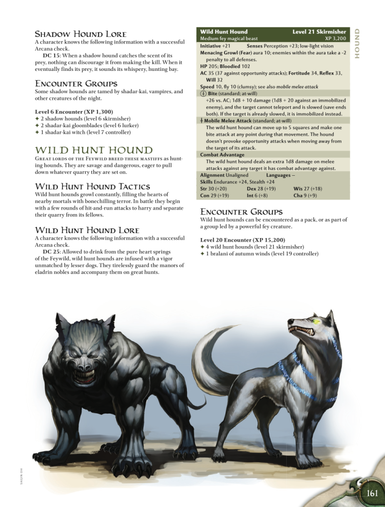 Canidae Mimicry-D&D-Shadow Hounds-D&D 4th Edition - Monster Manual 1