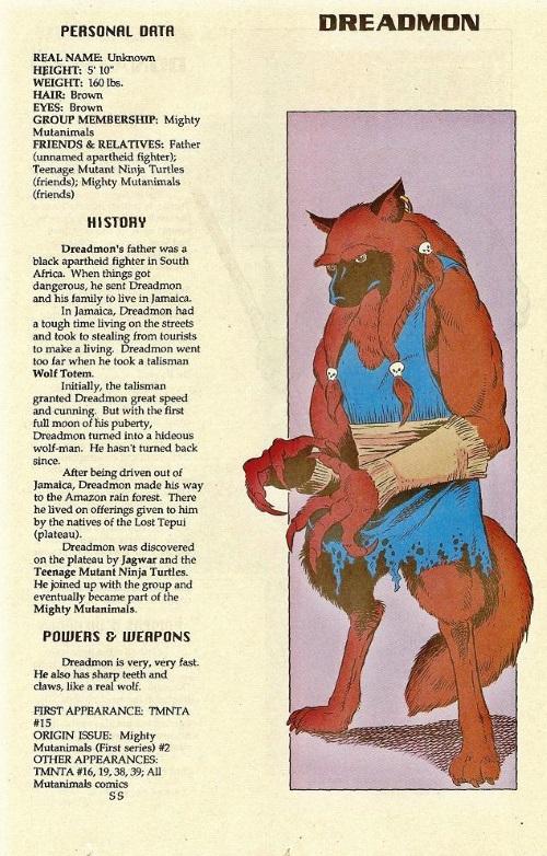 Canidae Mimicry-Dreadmon-TMNT Mutant Universe Sourcebook #1