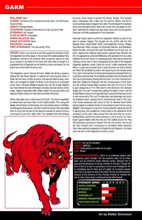 Canidae Mimicry-Garm-Marvel Pets Handbook #01
