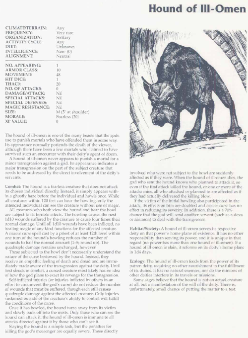 canidae-mimicry-hound-of-ill-omen-tsr-2166-monstrous-compendium-annual-volume-3