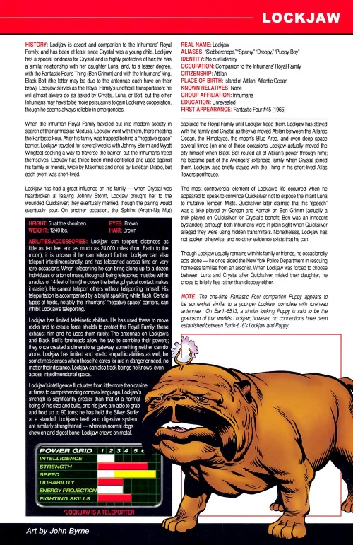 Canidae Mimicry-Lockjaw-Marvel Pets Handbook #01
