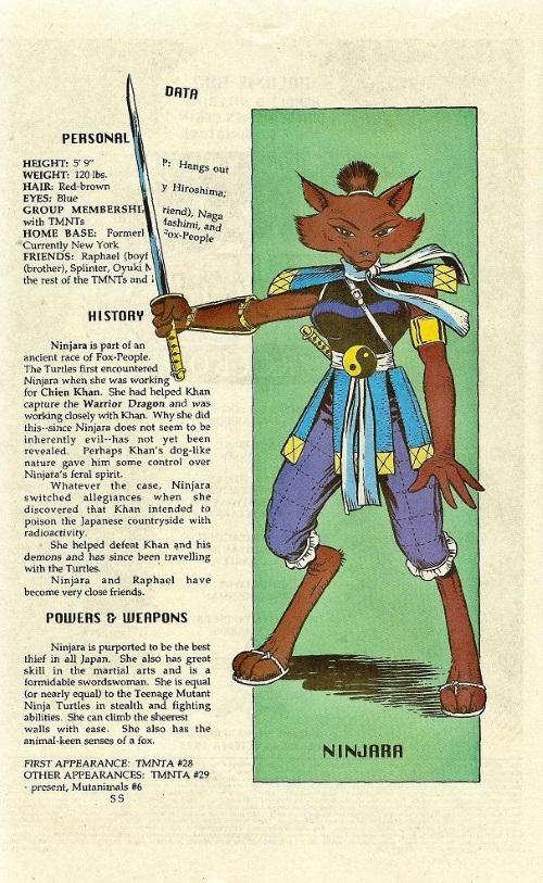 Canidae Mimicry-Ninjara-TMNT Mutant Universe Sourcebook #2
