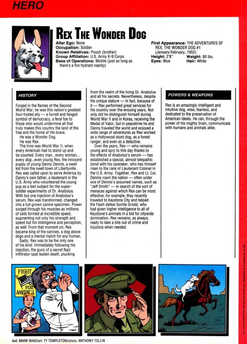Canidae Mimicry-Rex the Wonder Dog-Who's Who in the DC Universe #14
