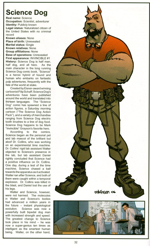 Canidae Mimicry-Science Dog-Official Handbook of the Invincible Universe #2 (Image)