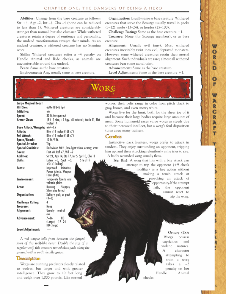 Canidae Mimicry-WOW-Worg-World of Warcraft Monster Guide