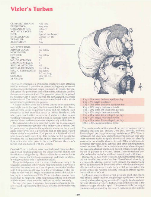 cloth-mimicry-viziers-turban-tsr-2158-monstrous-compendium-annual-volume-2