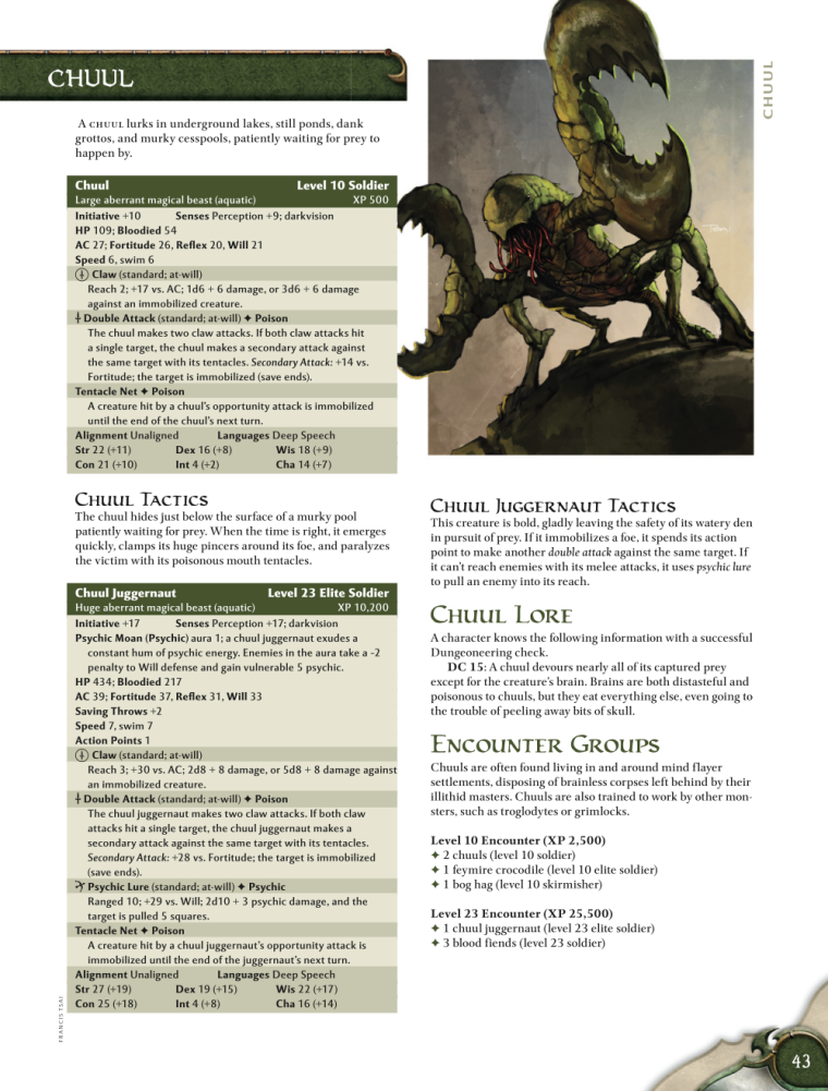 Crustacean Mimicry-Chull-D&D 4th Edition - Monster Manual 1