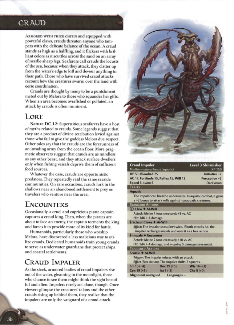 Crustacean Mimicry-Craud-D&D 4th Edition - Monster Manual 3
