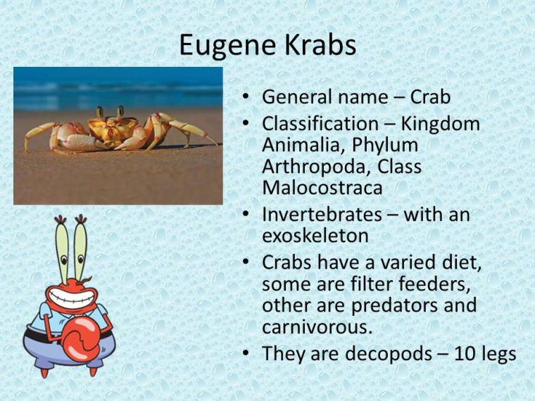 Crustacean Mimicry-Eugene Krabs