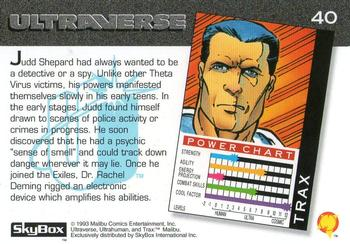 Danger Intuition-1993 SkyBox Ultraverse-40Bk Trax