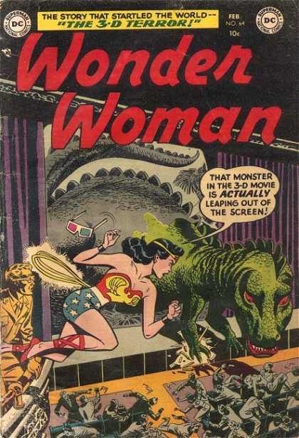 Dinosaur Mimicry-OS-Wonder Woman V1 #64