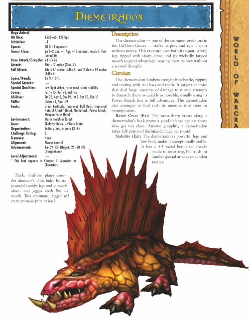 dinosaur-mimicry-wow-diemetradon-world-of-warcraft-monster-guide
